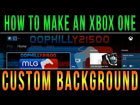 Xbox One - How To Make A Custom Background