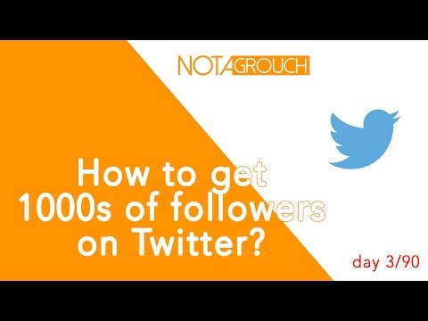 How to Get Tons of Followers on Twitter - [video 03/90]