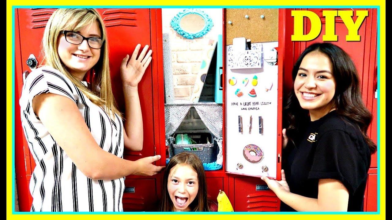 BACK TO SCHOOL DIY LOCKER DECOR!   SCHOOL HACKS!