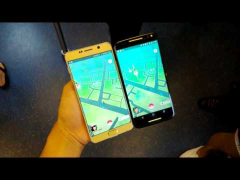 [Pokemon GO] GPS Comparison : Moto X VS Samsung Galaxy Note 5