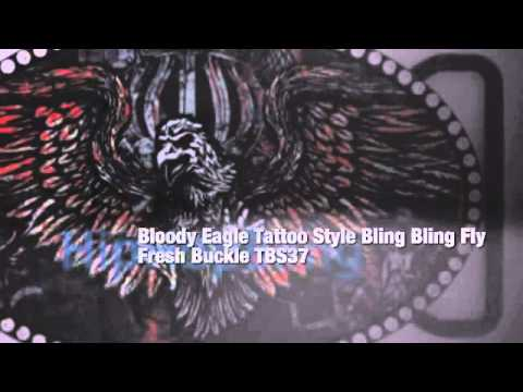 Bloody Eagle Tattoo Style Bling Bling Fly Fresh Buckle TBS37