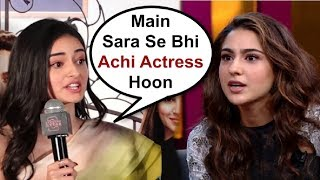 Download Ananya Pandey Sh0cking Reaction On Competition With Sara Ali Khan Video