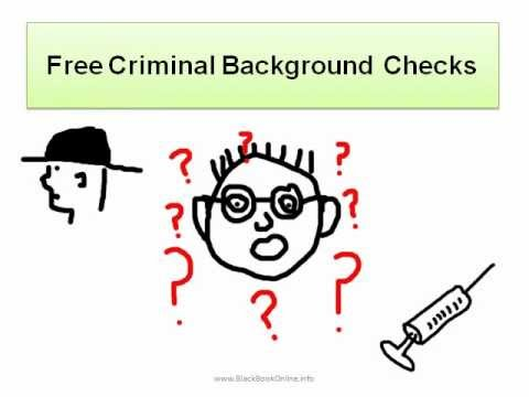 Free Criminal Background Checks
