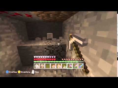Minecraft  Mining for Emeralds  Look who I found - Scary Herobrine story