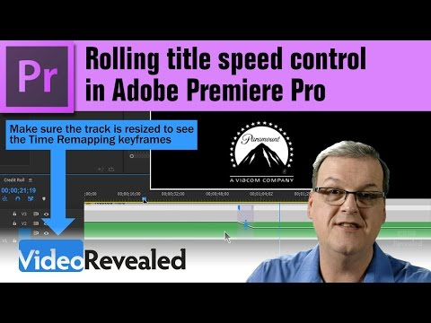 Rolling title speed control in Adobe Premiere Pro