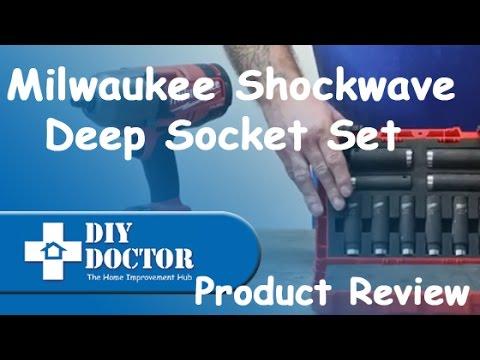 milwaukee Shockwave Deep Socket Set