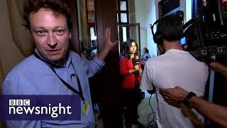The mood inside the Catalan parliament: Gabriel Gatehouse reports  - BBC Newsnight