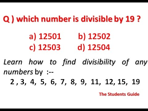 How to Check Divisibility of any number...!!!