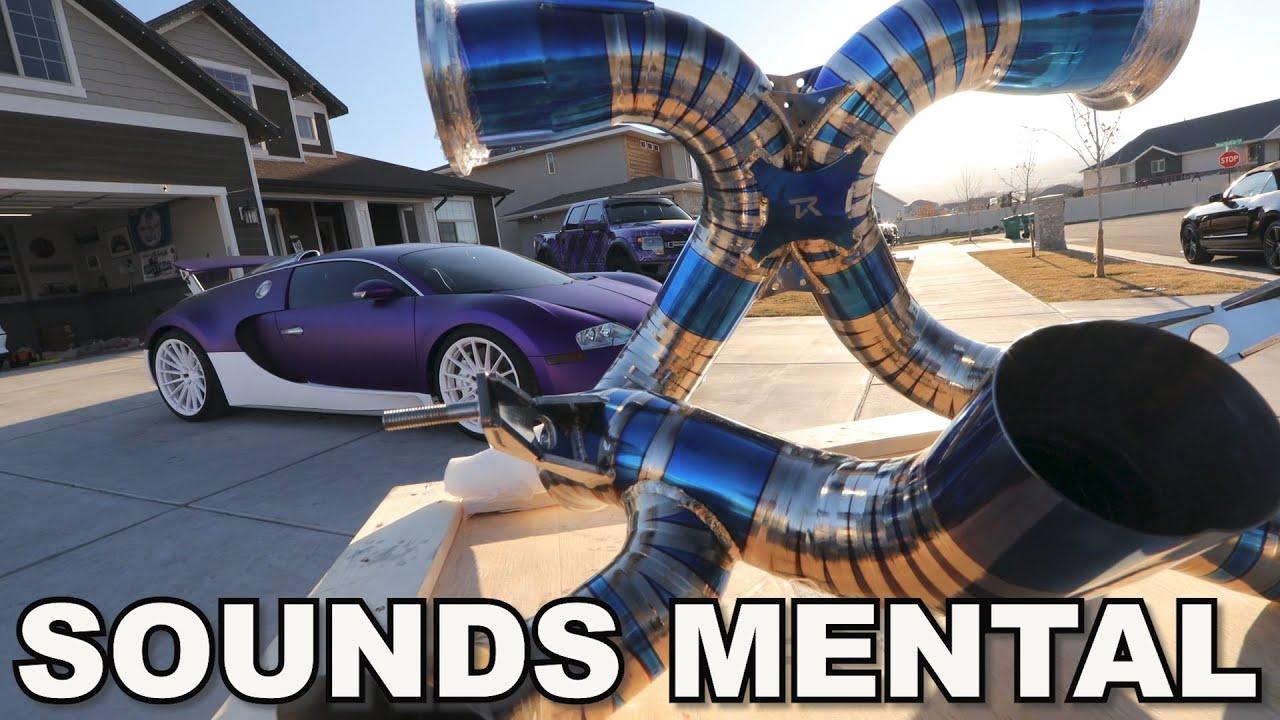 Installing the $38,000 Bugatti Veyron Exhaust!