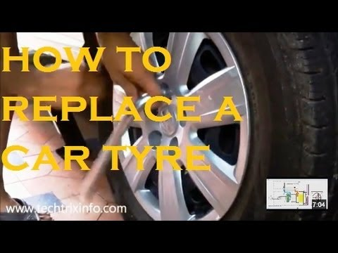 How to replace a car tyre. ✔