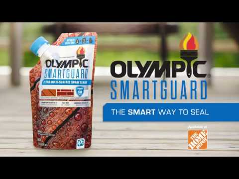 Stain your deck, fence and siding quickly with Olympic® SmartGuard