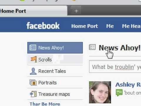 Facebook Pirate Language