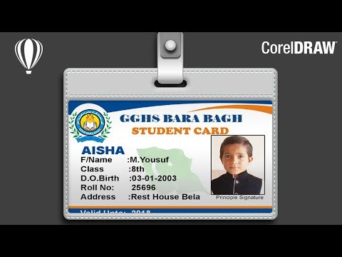 Student Card Design in CorelDRAW