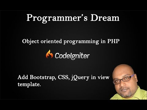 Front-End Setup: CSS, JS, Includes (jQuery & Bootstrap) - Codeigniter tutorial 4
