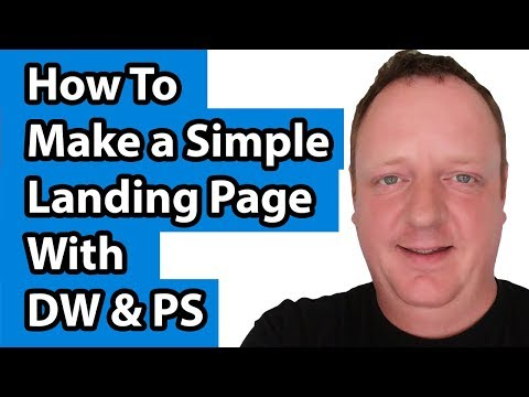 How To Make a Simple Landing Page With Dreamweaver and Photoshop
