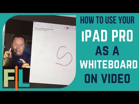 IPad Pro Tips:  How to use your iPAD PRO as a whiteboard (on Facebook & YouTube OBS livestreams)
