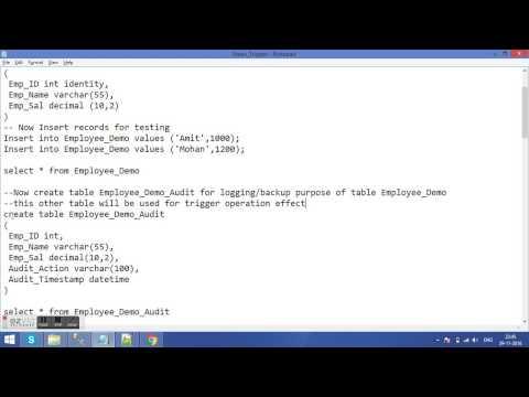 PL/SQL Triggers - CREATE TRIGGER (Transact-SQL) - Triggers SQL Server