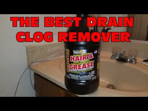 The best drain clog remover - Instant Power - Hair and Grease !!!