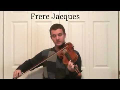 Learn How to Play Frere Jacques on the Violin - Learn to Slur Music Notes