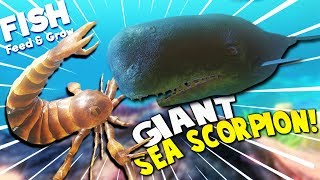 Download GIANT SEA SCORPION vs GIANT BOSS WHALE?! | Feed And Grow Fish Gameplay Video