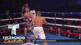 Adrián Martínez demoledor ante Jovan Pérez | Boxeo Telemundo | Telemundo Deportes