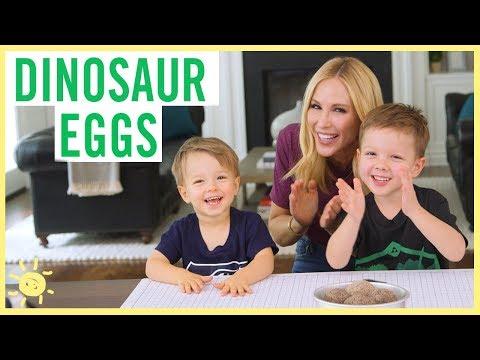 DIY | Dinosaur Surprise Eggs (ft. Lincoln!!)