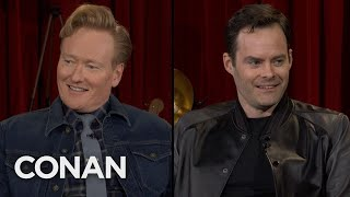 """Bill Hader Freaked Out Before His First """"Late Night"""" Appearance - CONAN on TBS"""