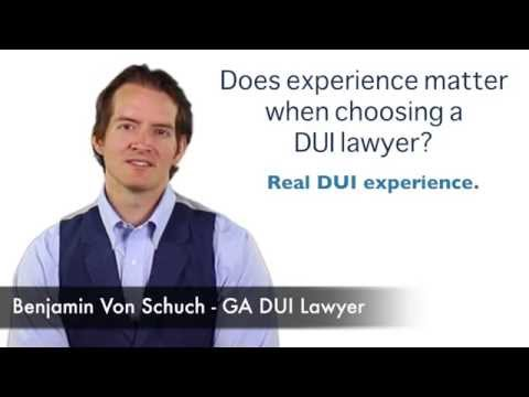 Does experience matter when choosing a DUI lawyer in Atlanta?