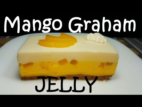 Mango Graham Jelly | Jelly Dessert recipe | Gulaman dessert