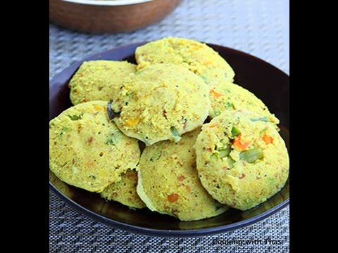 Easy Instant Oats Idli or Steamed Oats Cake Recipe- South Indian Recipe