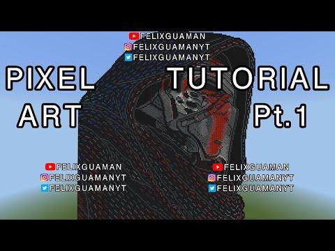 Minecraft Pixel Art Tutorial - Kylo Ren (Star Wars) Part 1