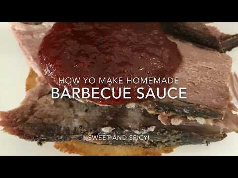 Homemade Barbecue Sauce - How to Make your Own Sweet and Spicy Barbecue Sauce