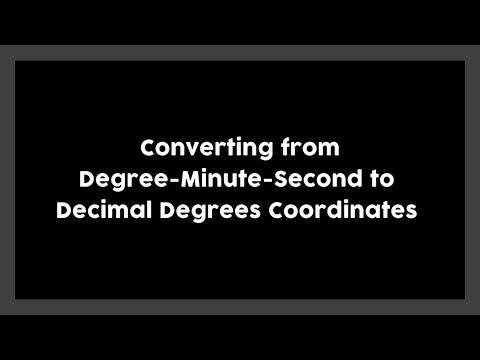 How to convert degree-minute-second to decimal degrees