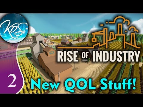 Rise of Industry Ep 2: BUILDING UP TOWNS - ALPHA 6RC4 - Let's Play, Gameplay