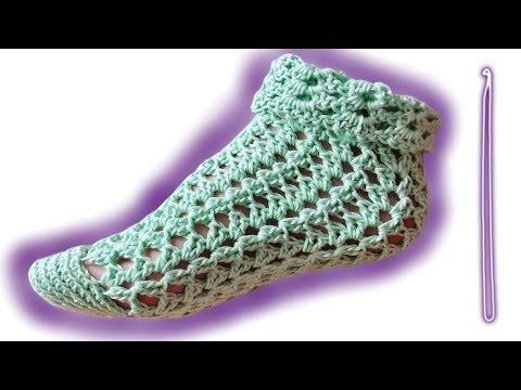 Summer socks advanced crochet tutorial for lefthanded