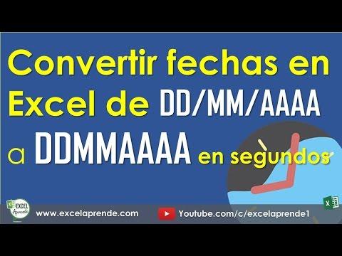 Convertir fechas en Excel de DD/MM/AAAA a DDMMAAAA | Excel Aprende