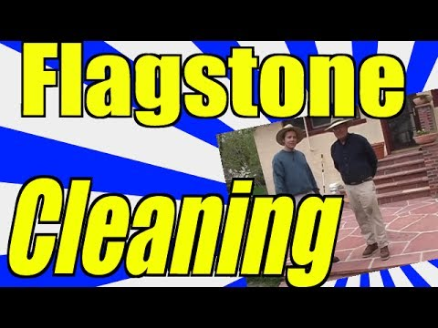 Flagstone Cleaning Just Like the Professionals!