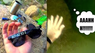 Found Fossil Sunglasses, Bluetooth Speaker and more in the River! (Haunted River???)