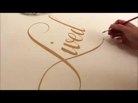 Elegant Aisles - Handpainted Gold Aisle Runner