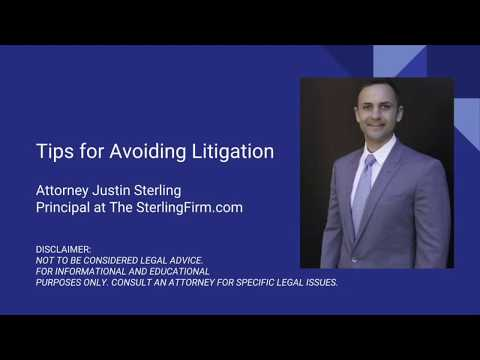 Avoiding Litigation featuring Attorney Justin Sterling interviewed by Nancy Fulton