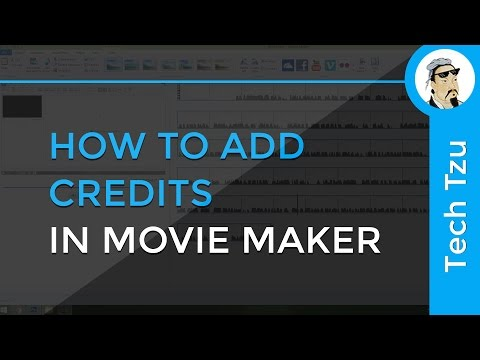 How to add Credits in Movie Maker
