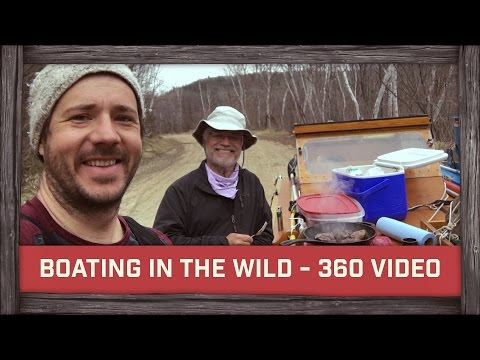 Boating in the wild - 360 video