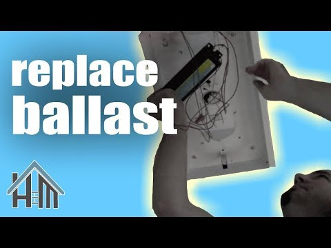 How to repair fluorescent light, replace ballast. Easy! Home Mender.