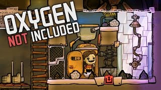 Oxygen Not Included!  Ep. 3 - Grime Reducing Shower System! - Oxygen Not Included Alpha