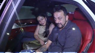 UNCUT   Sanjay Dutt Spotted At Rajkumar Hirani Residence