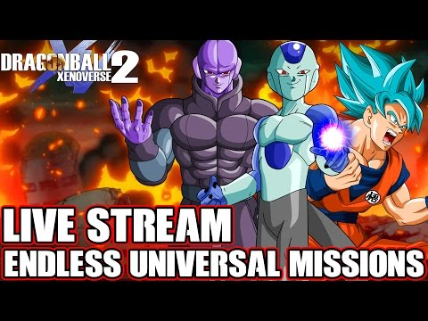 Dragon Ball Xenoverse 2 LIVE STREAM! Endless Universal Missions (Multiplayer, Expert Missions & PQ)