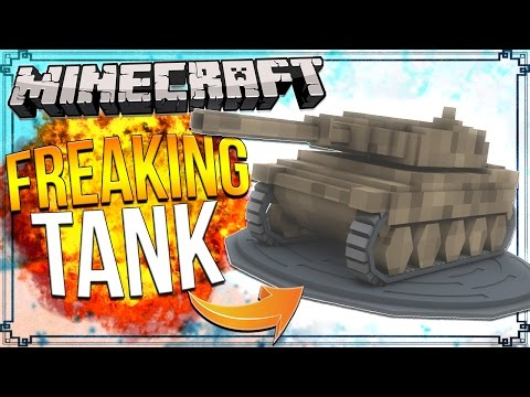 How to Make a TANK in Minecraft! (Only One Command) (Minecraft Redstone)