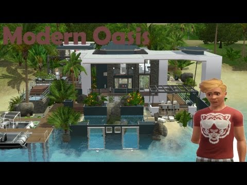 The Sims 3 House Building - Modern Oasis 47   Speed Build