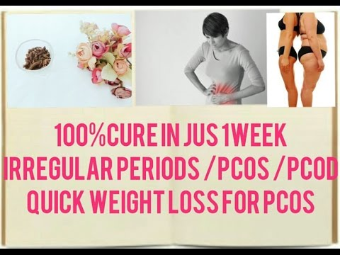 100% Remedy to treat irregular periods in jus 1week|Quick weight loss specially for pcos patients