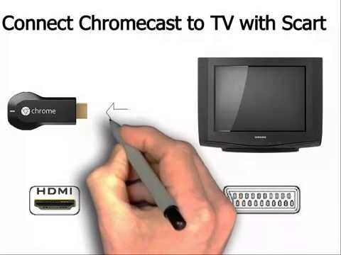how to connect chromecast using scart adapter